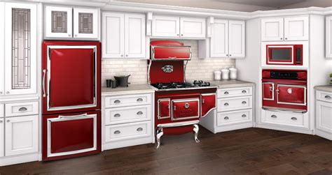Red Appliances For Kitchen | retro kitchen elmira stove works red kitchen appliances