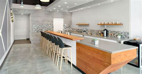 modern coffee shop   palette  grey white  wood