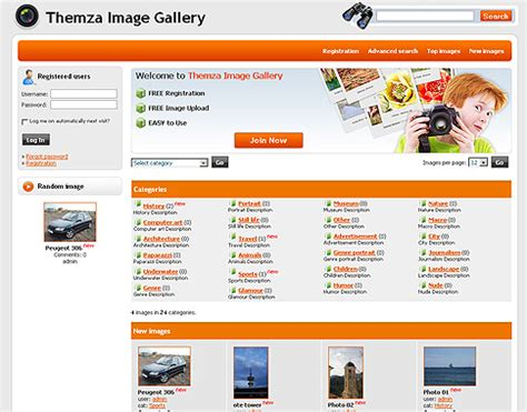 templates for community website free 4images themes photo community by themza