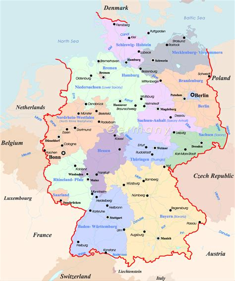 europe germany map germany map travel