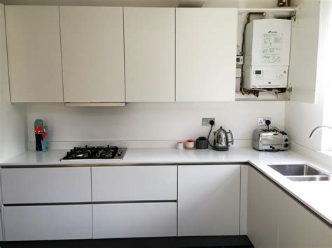 matt white handleless ware blax kitchens