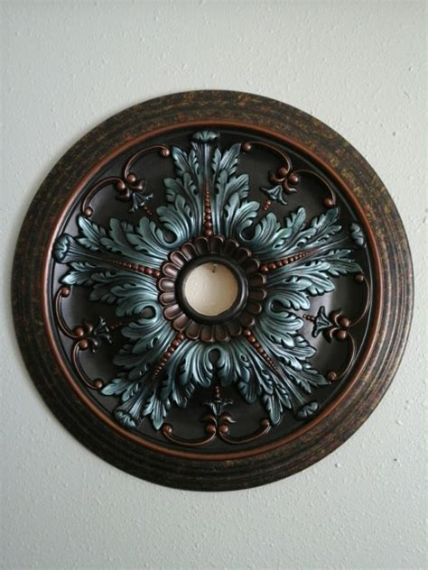gorgeous painted turquoise antique copper ceiling