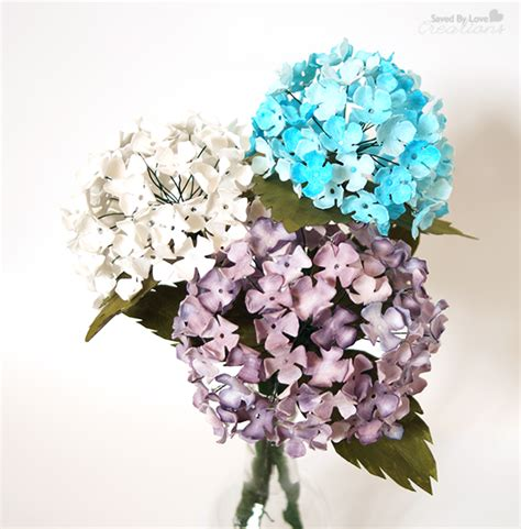 How To Make Bouquet Of Paper Flowers - diy paper hydrangeas
