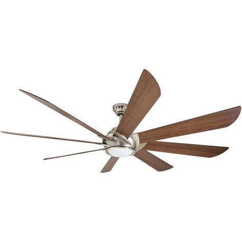 8 ceiling fan downrod shop harbor breeze hydra 70 in brushed nickel led indoor