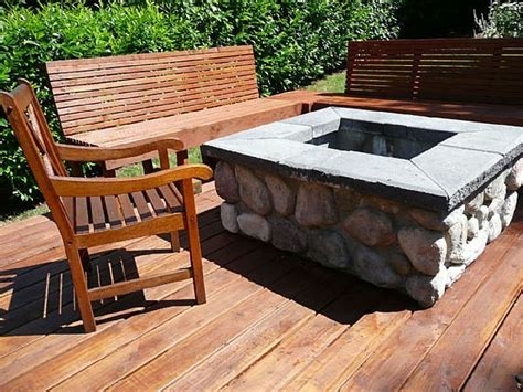 diy pit wood deck talk rock network diy firepit