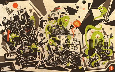 abstract cartoon wallpaper  wallpapercom