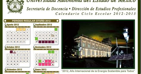 Calendario Escolar Uaem Uaem Uapch Calendario Escolar