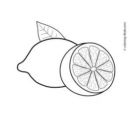 lemon color sheet lemons fruits coloring pages for printable free lam