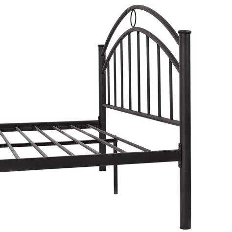 us size metal bed frame mattress platform headboard