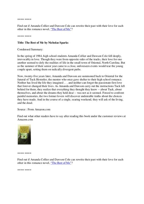 the best of me nicholas sparks summary the best of me by nicholas sparks