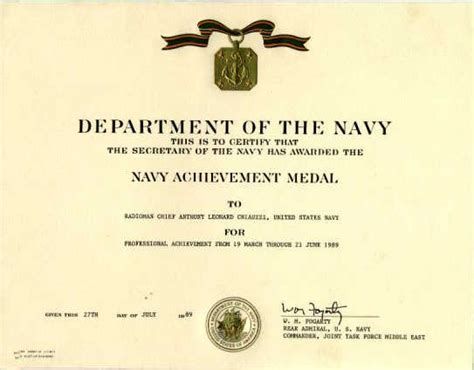 army achievement medal certificate template us military