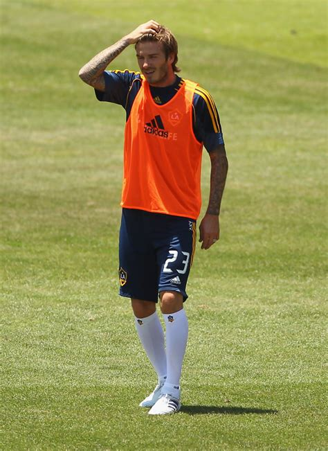 David Beckham In by David Beckham In La Galaxy Session Zimbio