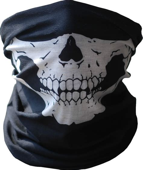 Masker Buff skull mask motorcycle neck bandana in skullies