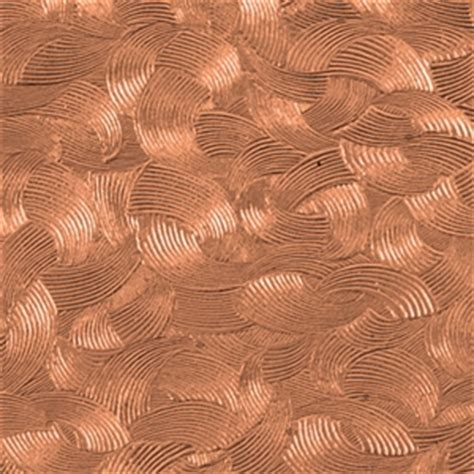 textured metal sheets copper brush strokes pattern