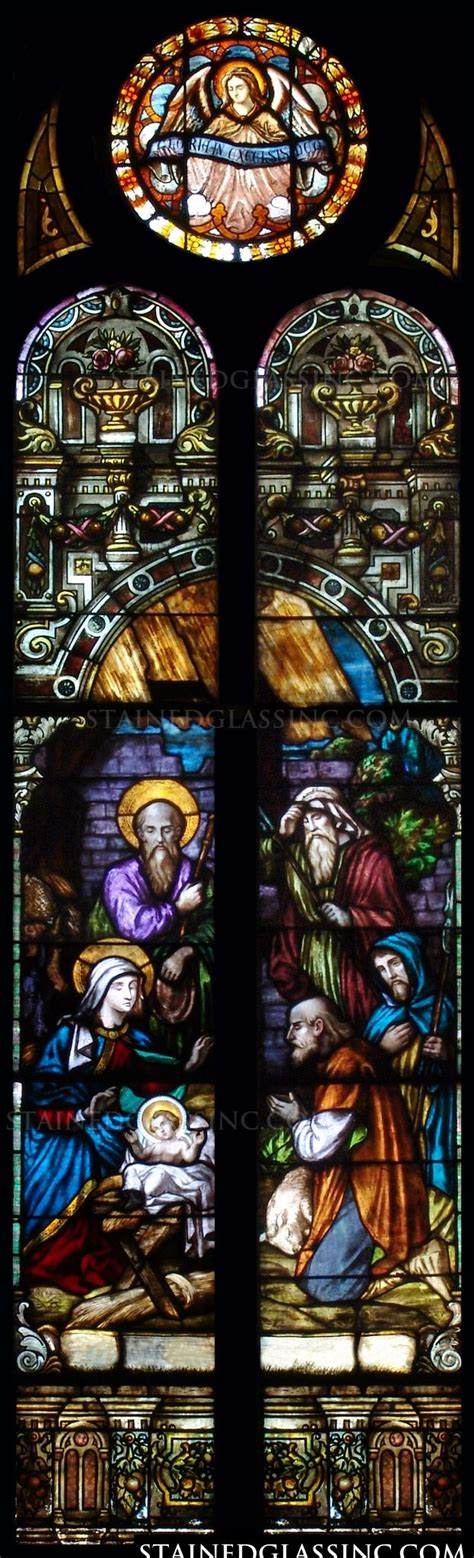 No Crib For A Bed Quot No Crib For A Bed Quot Religious Stained Glass Window