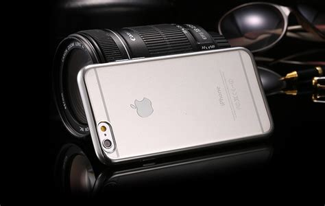Fashion Metal Back Cover For Iphone 6 Silver luxury ultra thin metal plating cover for apple iphone 6