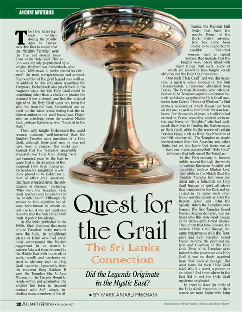 the grail quest quest for the grail the sri lanka connection atlantis