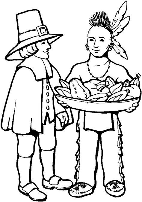 thanksgiving coloring pages pilgrim coloring pages