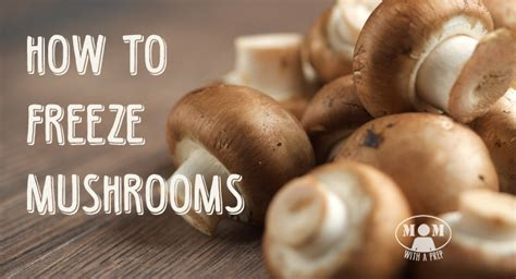 freeze mushrooms you bet you can mom with a prep