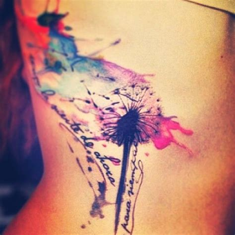 watercolor tattoos dandelion dandelion s peircings