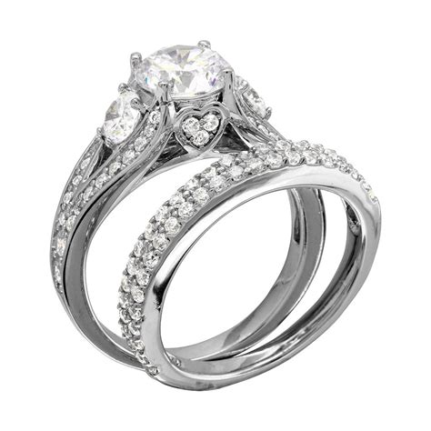 wholesale sterling silver  rhodium plated cz bridal