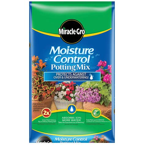 miracle grow moisture potting mix 2 cu ft lawn