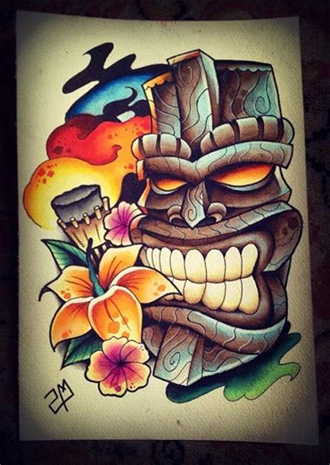 tiki head tattoo designs tiki design by artisticrender on deviantart