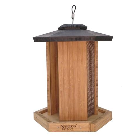 Wicker Bird Feeder Nature S Way Bamboo Chamber Bird Feeder Bwf14 The