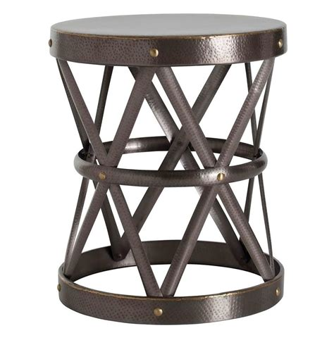 hammered metal side table costello brass hammered metal open accent side table