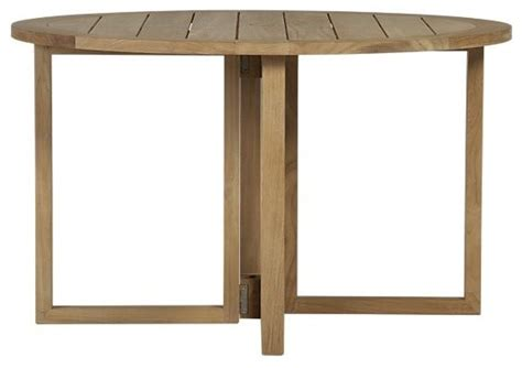 Outdoor Drop Leaf Table Regatta Drop Leaf Table Contemporary Outdoor Dining Tables By Crate Barrel
