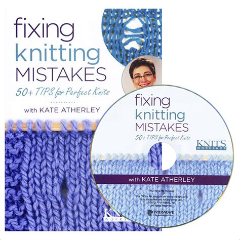 knitting correcting mistakes fixing knitting mistakes dvd interweave knits workshop