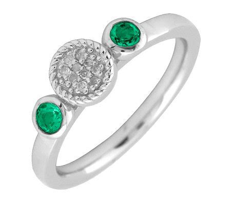 simply stacks sterling emerald ring