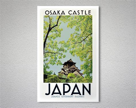 osaka prints glossary osaka castle arty posters