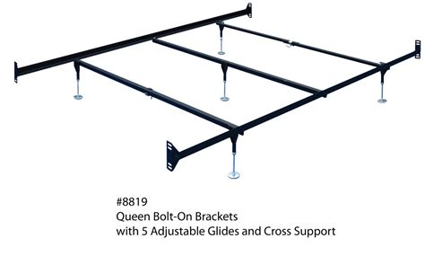 Bed Frame Hooks Bed Frame With Hooks Adjustable Hook On Bed Frame Rails W Cross Beams For Hdbd Ftbd Ebay