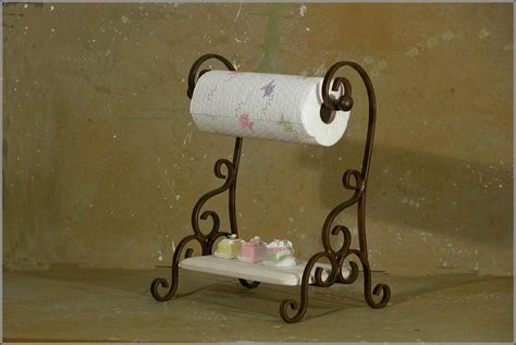 wrought iron paper towel holder under cabinet home