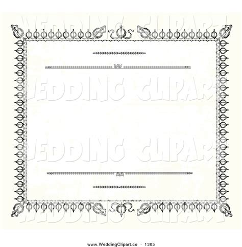 Wedding Border Clipart Vector Templates by Marriage Certificate Clip 66
