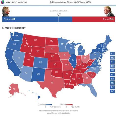 mapaor de elecciones usa 2016 elecciones presidenciales eeuu 2016 elecciones ee uu
