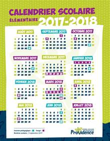 Calendrier Conges Scolaires Calendrier Scolaire Csc Providence