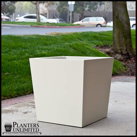 Commercial Planters by Modern Tapered Fiberglass Commercial Planter 36in L X 36in