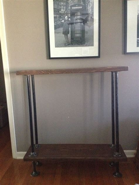 industrial pipe sofa table 1000 images about sofa table diy on