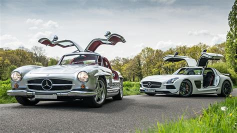 sls swing the amg 300sl vs sls black series top gear