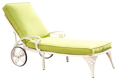 green chaise lounge cushions home styles biscayne white chaise lounge chair green apple