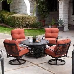 patio furniture with pit 5 patio lounge dining set with gas pit outdoor