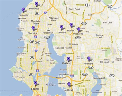 seattle map bothell around bothell about uw bothell uw bothell