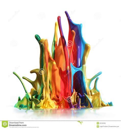 paint colorful colorful paint splashing stock photo image of pink shiny