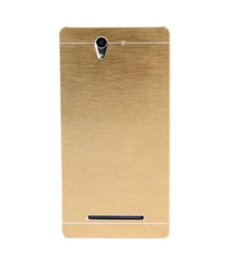 Sony Xperia C3 Motomo Metal Hardcase Cover Metalcase Bumper ae motomo brushed metal back cover for sony xperia c3 gold buy ae motomo brushed metal