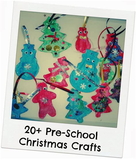 20 pre school christmas crafts