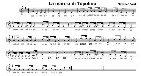 canzone di topolino testo musica e spartiti gratis per flauto dolce topolino