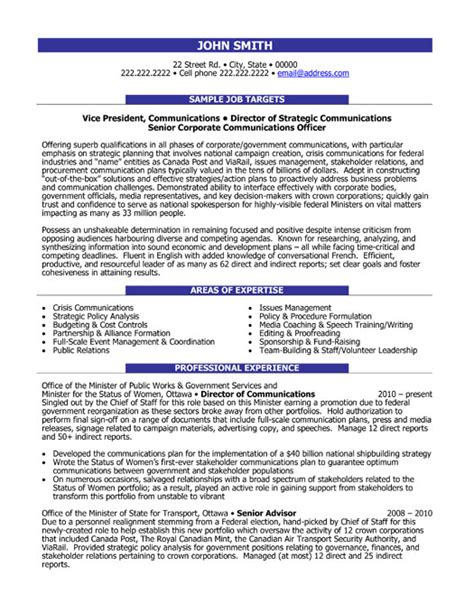 communication director resume sle template