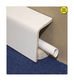 Kitchen Sinks Accessories - pipe boxing skirting cover 45mm x 110mm 15s1145